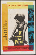 "Movie Posters:Drama, I Want To Live! (United Artists, 1958). One Sheet (27"" X 41"").Drama.. ..."