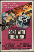 "Movie Posters:Romance, Gone with the Wind (MGM, R-1954). One Sheet (27"" X 41""). Romance....."