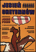 "Movie Posters:Western, Cheyenne Autumn (Warner Brothers, 1970). Polish One Sheet (23"" X 33""). Western.. ..."