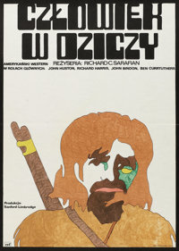 "Man in the Wilderness (CRF, 1975). Polish One Sheet (23"" X 32""). Adventure"
