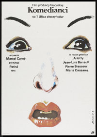 "Children of Paradise Part I and Part II (Tricolore, R-1987). Polish One Sheets (2) (26.5"" X 37.5""). Romance..."