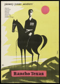 "Movie Posters:Western, Rancho Texas (CWF, 1959). Polish One Sheet (23"" X 32.5""). Western....."