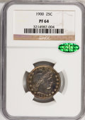 Proof Barber Quarters, 1900 25C PR64 NGC. CAC....