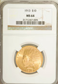 Indian Eagles, 1913 $10 MS64 NGC....