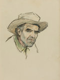 Mainstream Illustration, WILLIAM HENRY DETHLEF KOERNER (American, 1878-1938). GeneUnderwood of Cooke City, Montana, 1924. Graphite and crayonon...