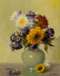 A. D. GREER (American, 1904-1998) Still Life with Flowers, c. 1978 Oil on board 14 x 11 in. Si