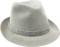 Football Collectibles:Uniforms, 1980's Tom Landry Game Worn Fedora with Photo Match....
