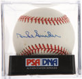 Autographs:Baseballs, Duke Snider Single Signed Baseball PSA NM-MT+ 8.5. ...