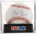 Autographs:Baseballs, Vida Blue Single Signed Baseball PSA Mint 9....
