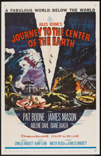"""Journey to the Center of the Earth (20th Century Fox, 1959). One Sheet (27"""" X 41""""). Science Fiction"""