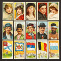 Non-Sport Cards:Lots, 1910's T59 Flags, T82 Movie Stars and T113 Types of Nations Group of (93). ...