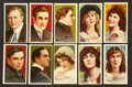 "Non-Sport Cards:Sets, 1910 T82 Recruit ""Movie Stars"" Near Set (45/50)...."