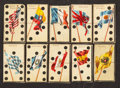 "Non-Sport Cards:Sets, 1900 T177 ""National Flag On Domino"" Complete Set (28). ..."
