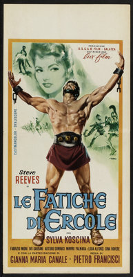 "Hercules Lot (Lux Films, 1960). Italian Locandinas (3) (13"" X 27""). Adventure. ... (Total: 3 Items)"