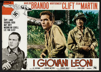 "The Young Lions Lot (20th Century Fox, 1958). Italian Photobustas (3) (18.5"" X 25.5""). War. ... (Total: 3 Item..."