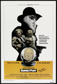 """Family Plot (Universal, 1976). One Sheet (27"""" X 41"""") and Lobby Cards (6) (11"""" X 14""""). Hitchcock..."""