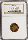 Proof Indian Cents, 1878 1C PR65 Red Cameo NGC....