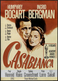"Movie Posters:Drama, Casablanca (Nobis Film & Warner Brothers, R-1992 &R-1980s). One Sheet (27"" X 41"") and German A1 (23.5"" X 33"").Drama.. ... (Total: 2 Items)"