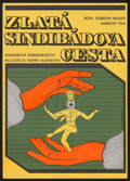 "Movie Posters:Fantasy, The Golden Voyage of Sinbad (Columbia, 1977). CzechoslovakianPoster (11.25"" X 16""). Fantasy.. ..."