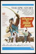 "Movie Posters:Adventure, A Challenge for Robin Hood (20th Century Fox, 1967). One Sheet (27""X 41"") Flat-Folded. Adventure.. ..."