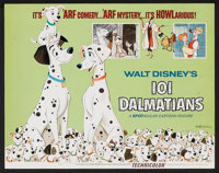 """101 Dalmatians Lot (Buena Vista, R-1969). Title Lobby Card and Lobby Cards (5) (11"""" X 14"""") and Stand-Up (9&quo..."""