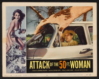 "Attack of the 50 Foot Woman (Allied Artists, 1958). Lobby Cards (2) (11"" X 14""). Science Fiction. ... (Total:..."