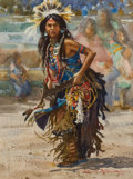 Western:20th Century, JOSEPH STEPHEN BOHLER (American, b. 1938). Indian Dancer, 1983. Watercolor on paper. 15 x 10-3/4 inches (38.1 x 27.3 cm)...