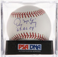 Autographs:Baseballs, Denny McLain Single Signed Baseball PSA Gem Mint 10....