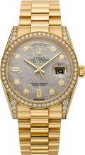 Timepieces:Wristwatch, Rolex Diamond & Gold President with Meteorite Dial, Ref. 118388, circa 2007. ...