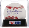 Autographs:Baseballs, Dick Williams Single Signed Baseball PSA Mint 9....
