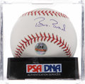 Autographs:Baseballs, Barry Bonds Single Signed Baseball PSA Mint+ 9.5. ...