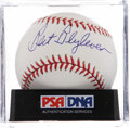 Autographs:Baseballs, Bert Blyleven Single Signed Baseball PSA Mint 9. ...