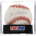 Autographs:Baseballs, Joe Montana Single Signed Baseball PSA NM+ 7.5. ...