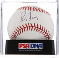 Autographs:Baseballs, Greg Maddux Single Signed Baseball PSA NM-MT 8. ...
