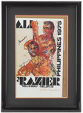 Boxing Collectibles:Autographs, Muhammad Ali and Joe Frazier Dual-Signed Fight Poster. ...