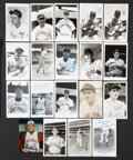 Autographs:Others, Cincinnati Reds and Cleveland Indians Signed Images Lot of 120. ...
