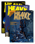 Magazines:Science-Fiction, Heavy Metal Box Lot (HM Communications, 1977-85) Condition: Average VF/NM....