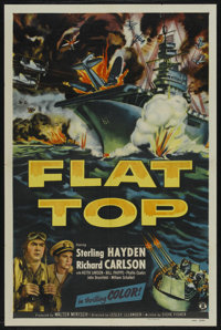"Flat Top (Monogram, 1952). One Sheet (27"" X 41""). War. Starring Sterling Hayden, Richard Carlson, Keith Larsen..."