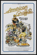 "Movie Posters:Comedy, American Graffiti (Universal, 1973). One Sheet (27"" X 41""). Comedy.Starring Ron Howard, Richard Dreyfuss, Harrison Ford, Pa..."