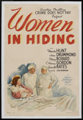 "Movie Posters:Crime, Women in Hiding (MGM, 1940). One Sheet (27"" X 41""). Crime. StarringMarsha Hunt, Jane Drummond, Mary Bovard, C. Henry Gordon..."