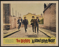 """A Hard Day's Night (United Artists, 1964). Lobby Card (11"""" X 14""""). Rock and Roll. Starring The Beatles (John L..."""