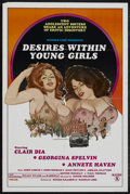 "Movie Posters:Sexploitation, Desires Within Young Girls (Caballero Control, 1977). One Sheet(27"" X 41""). Adult. Starring Clair Dia, Georgina Spelvin, An..."