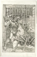 Original Comic Art:Covers, Mike Ploog - Frankenstein #6 Cover Recreation Original Art (2002)....
