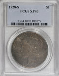 Peace Dollars: , 1928-S $1 XF40 PCGS. PCGS Population (10/4209). NGC Census:(6/3298). Mintage: 1,632,000. Numismedia Wsl. Price for NGC/PCG...