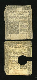 Colonial Notes:Connecticut, Connecticut June 19, 1776 9d VG. Connecticut March 1, 1780 10s VG,HOC.... (Total: 2)