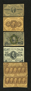 Fractional Currency:Group Lots, Mixed Fractional.... (Total: 6)