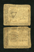 Colonial Notes:Continental Congress Issues, Continental Currency January 14, 1779 $55; $60 Very Good....(Total: 2)