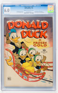 Golden Age (1938-1955):Cartoon Character, Four Color #62 Donald Duck (Dell, 1945) CGC FN 6.0 Cream tooff-white pages....