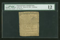 Colonial Notes:Pennsylvania, Pennsylvania March 10, 1769 2s PMG Fine 12....