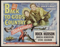 """Movie Posters:Action, Back to God's Country (Universal International, 1953). Title Lobby Card and Lobby Card (11"""" X 14""""). Action.. ... (Total: 2 Items)"""